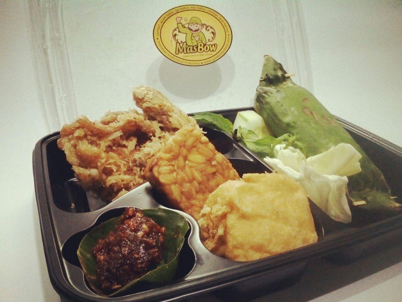 Paket Nasi Bakar Ayam Goreng Mas Bow
